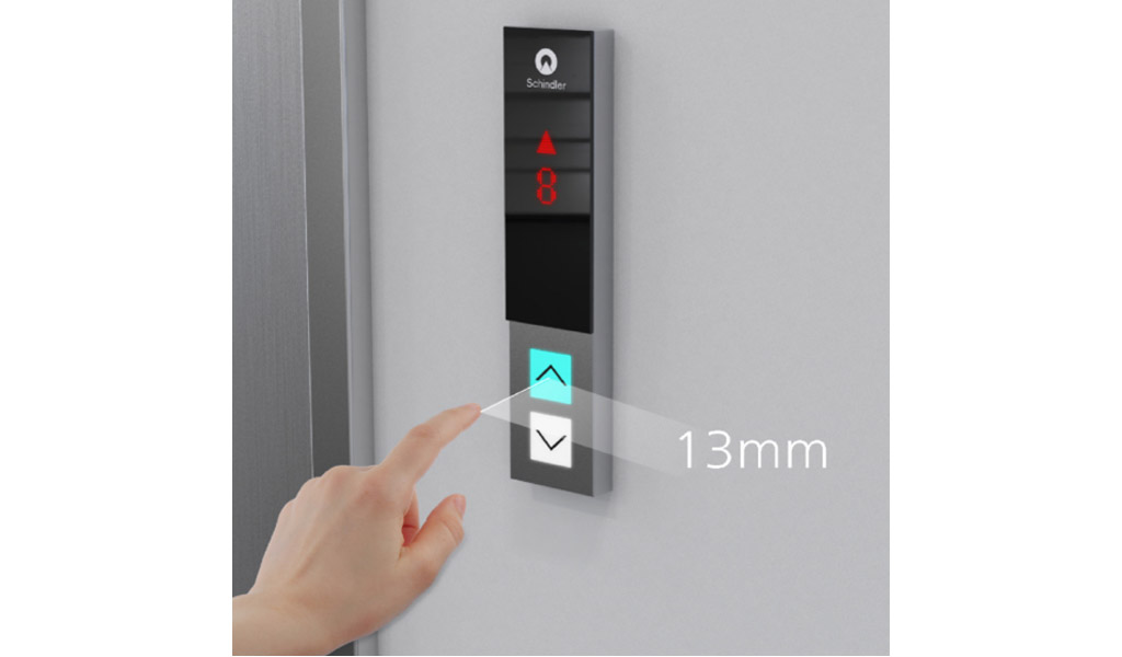 Ascensores SCHINDLER - Touchless Button for Existing LOP & COP (Llamado remote del ascensor sin contacto)