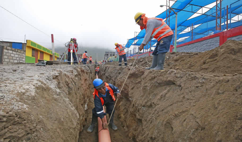 Reinicia obra de saneamiento rural en el caserío Pirga, en Piura