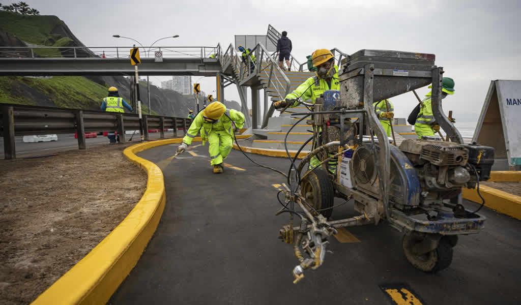 Trabajos de mantenimiento en la Costa Verde presentan el 60% de avance