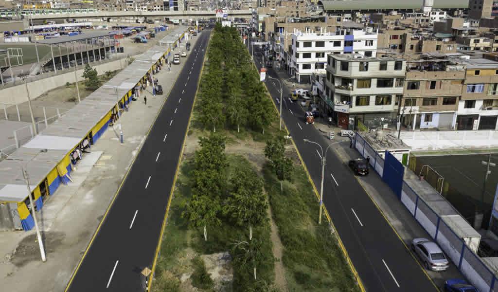 MML renovó casi 3 km de pistas en la Av. Los Héroes del Cenepa en SJL