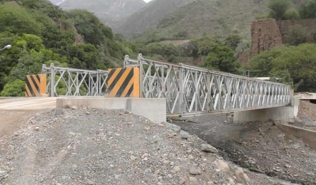 Ponen en servicio un puente modular en el sector Pan de Azúcar en Cusco