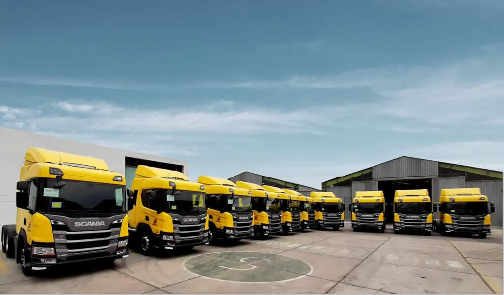 Scania refuerza su posicionamiento en el transporte de mineral con entrega de 10 unidades a Transviza en el sur del país