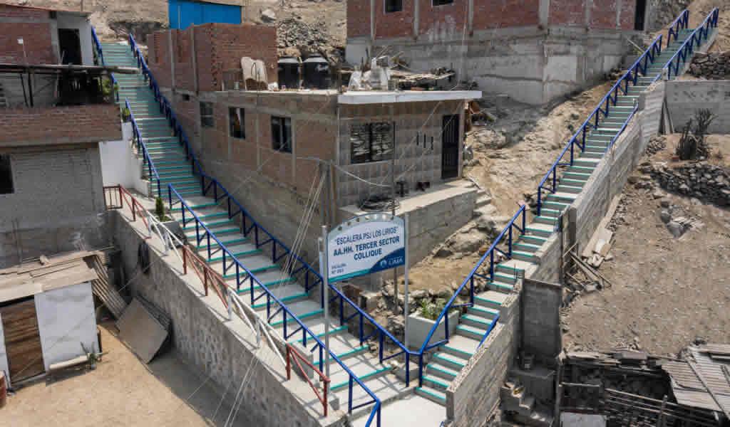 MML invirtió más de S/2 millones en nuevas obras sociales en asentamientos humanos de Comas