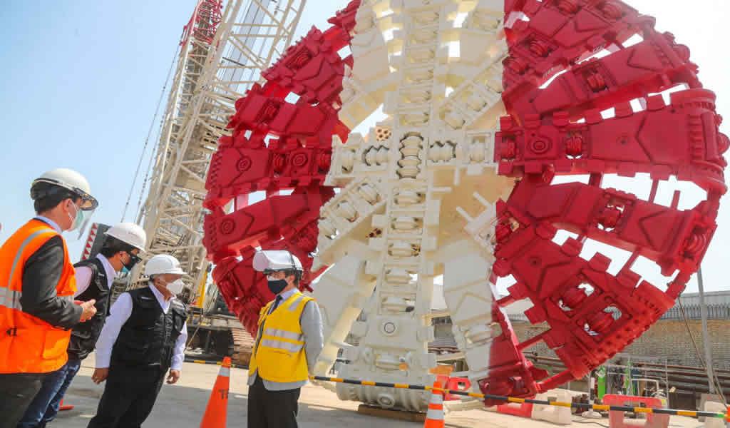 Inició montaje de tuneladora que empezará a operar en julio en obras de la Línea 2 del Metro de Lima
