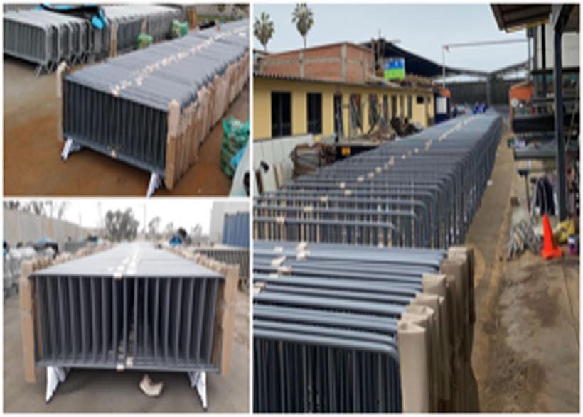 INDUSTRIAS ALTOS - Fabricación de vallas peatonales para los centros de vacunación