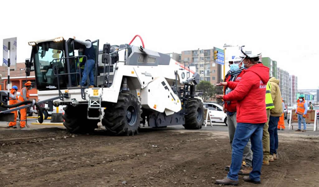 Continúan los trabajos en el corredor vial Morales Duárez–Av. Santa Rosa–Av. Costanera en el Callao