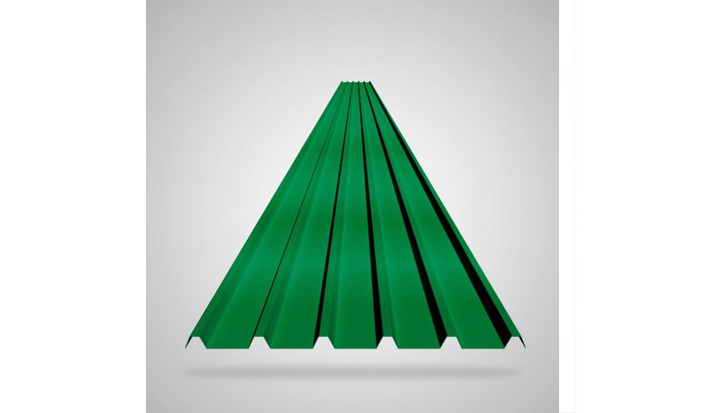 KLAR - Cobertura para techos termoacústicos multicapa KLAR - TK6S - Verde