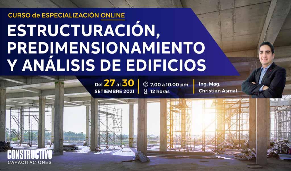 Estructuración, predimensionamiento y análisis de edificios