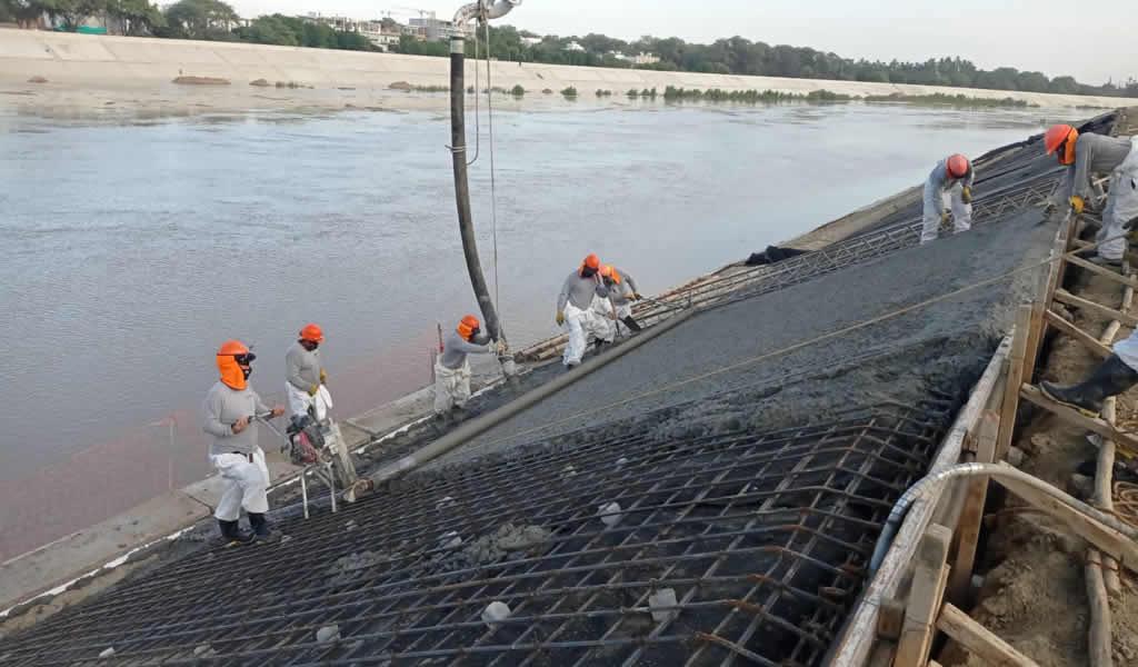 Culminan construcción de defensas ribereñas del río Piura para evitar inundaciones