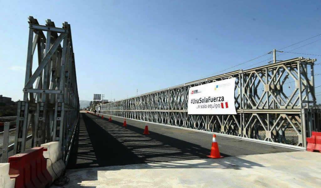 Se instalaron 30 puentes modulares en la región Áncash