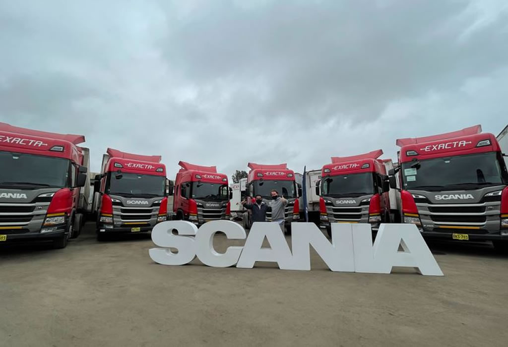SCANIA impulsa al sector retail mediante importante entrega de 20 camiones a operador logístico Exacta