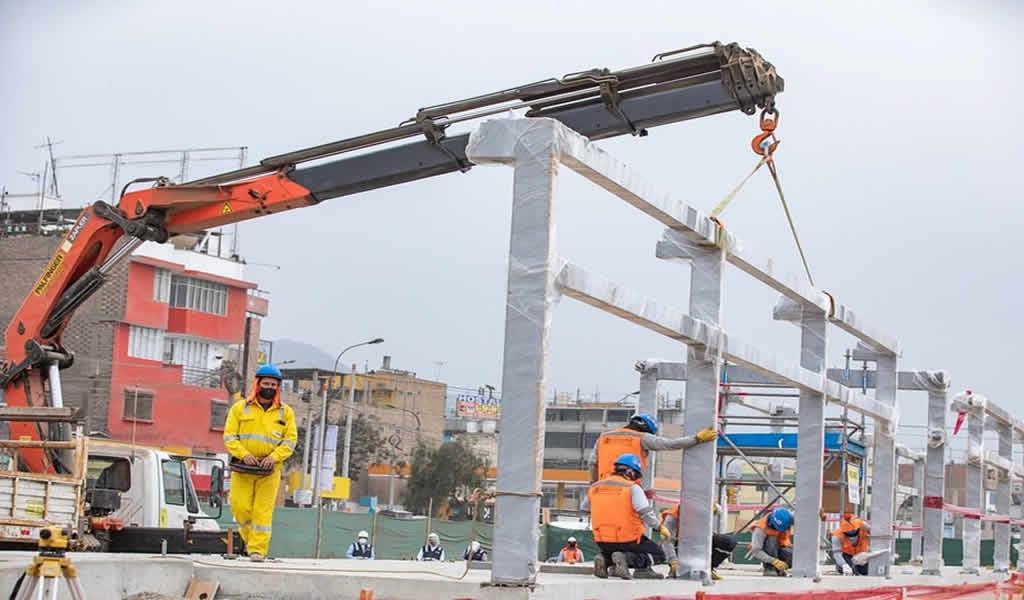 Supervisan los avances de la ampliación norte del Metropolitano